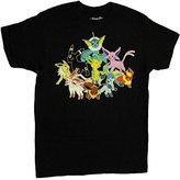 Pokemon Eevee Evolution Group Mens T-shirt, (XXL)