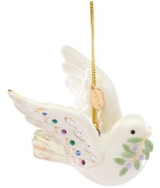 Lenox 2020 Holiday Gems Dove Ornament