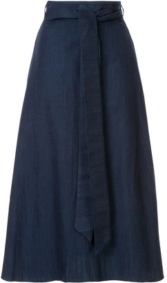 Tibi Denim Wrap Skirt