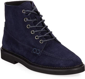 Tod's Combat Lace-Up Suede Ankle Boots