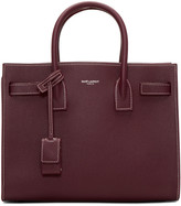 Saint Laurent Burgundy Baby Sac de Jour Tote