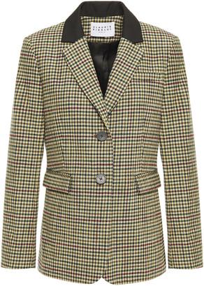 Claudie Pierlot Gingham Cotton-blend Jacquard Blazer