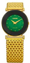 Jowissa Women's J3.032.M Elegance 30 mm Gold PVD Green Dial Steel Watch