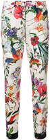 Cambio floral print slim fit trousers