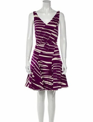 Oscar de la Renta 2010 Mini Dress Purple