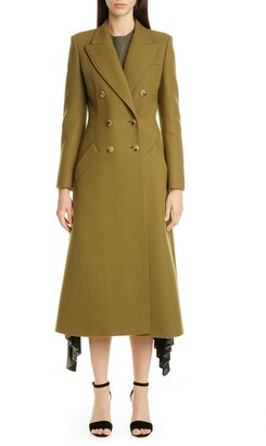 Altuzarra Double-Breasted Three-Quarter Wool Blend Coat