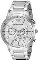 Emporio Armani Men's AR2458 Dress Silver Watch
