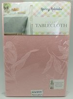 Damask Spring Splendor Tablecloth in Pink Oblong 60 Inches x 144 Inches Seats 12 to 14 People