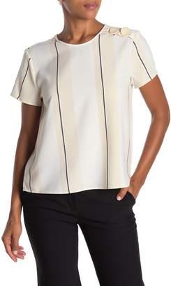 Vince Camuto Desert Scape Stripe Short Sleeve Blouse