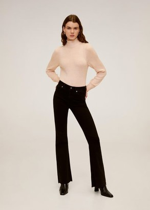 MANGO Bow collar sweater pastel pink - XS - Women