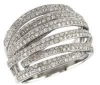 Effy 14K White Gold & 0.42 TCW Diamond Ring