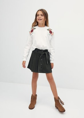 MANGO Corduroy cotton skirt