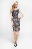 Terani Couture 1621C1262 Embellished Scoop Neck Column Dress