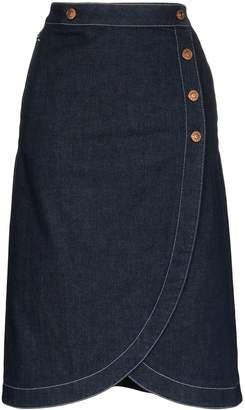 See by Chloe Denim Wrap Skirt