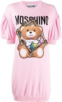 Moschino Teddy Bear frame knitted dress