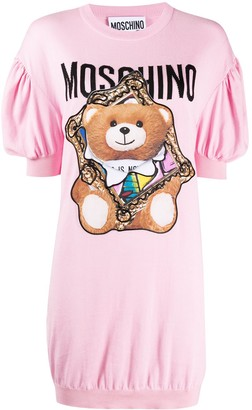 Moschino Teddy Bear frame knitted dress
