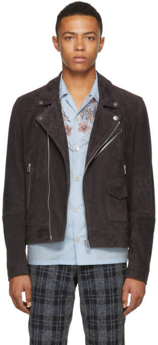 Paul Smith Grey Suede Jacket