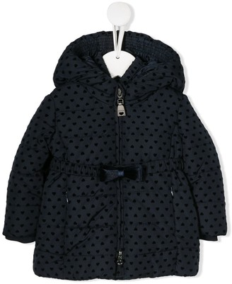MonnaLisa All-Over Hearts Padded Raincoat