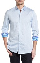 Stone Rose Men's Flame Knit Sport Shirt