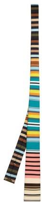 Prada Striped Silk Faille Tie - Mens - Multi