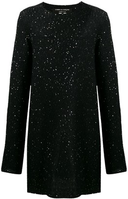 Comme des Garcons sequined oversized knit sweater