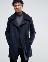 Selected Smart Coat With Fleece Collar
