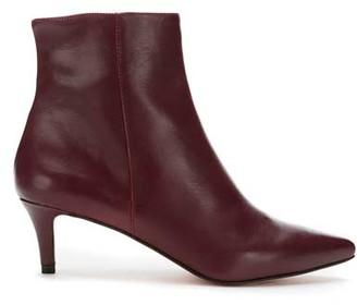 Mint Velvet Jodie Burgundy Kitten Boots