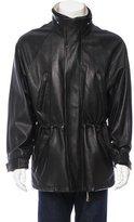 Loro Piana Cashmere-Lined Leather Coat
