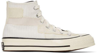 Converse Off-White Patchwork Chuck 70 High Sneakers