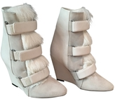 Isabel Marant White Leather Ankle boots