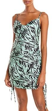WAYF Leola Ruched Mini Dress