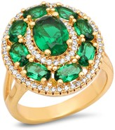 Simulated Diamond & Simulated Emerald Ring