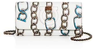 Salvatore Ferragamo Gancini City Mini Chainlink Leather Crossbody
