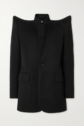 Balenciaga Pagoda Wool-twill Jacket - Black