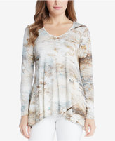 Karen Kane Printed Asymmetrical Swing Top
