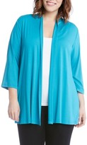 Karen Kane Plus Size Women's Molly Jersey Cardigan