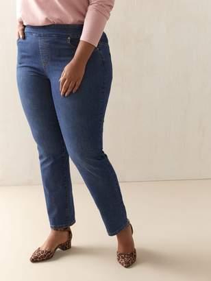 Universal Fit, Straight Leg Blue Jeans - d/C JEANS