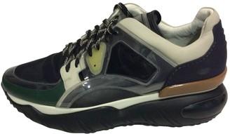 Fendi Green Leather Trainers