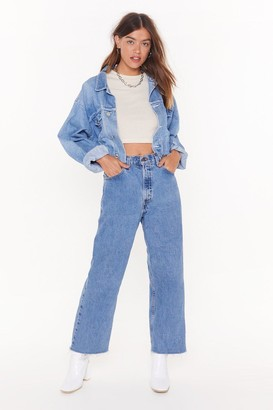 Nasty Gal Womens Vintage Momma Don't Like You Denim Jeans - Blue - M