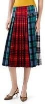 Gucci Wool Tartan Skirt, Red