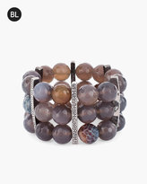 Chico's Beaded Neutral Stretch Bracelet