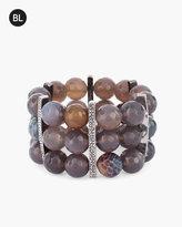 Chico's Beaded Neutral Stretch Bracelet