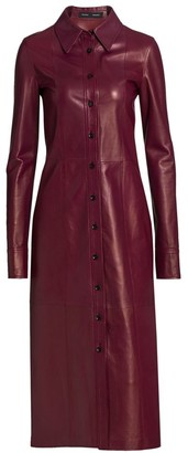 Proenza Schouler Leather Midi Shirtdress