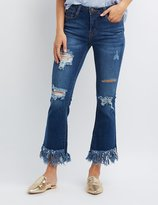 Charlotte Russe Machine Jeans Destroyed Flare Jeans