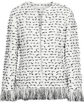 Oscar de la Renta Fil Coupe Cotton-blend Boucle Jacket