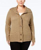 Karen Scott Plus Size Marled Cardigan, Created for Macy's