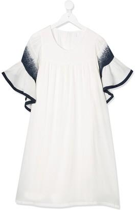 Chloé Kids TEEN ruffled sleeve dress