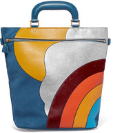 Anya Hindmarch Orsett Paneled Leather, Calf Hair And Ayers Tote - Blue