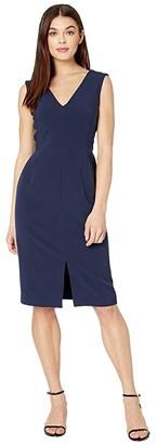 Milly Cady Kristianna Sheath Dress (Navy) Women's Clothing