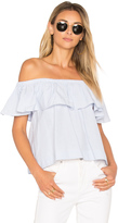 Anine Bing Striped Off The Shoulder Top